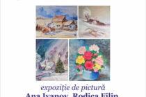 """""""Bucurii de iarnă"""" – Expoziție de pictură la Biblioteca Județeană"""