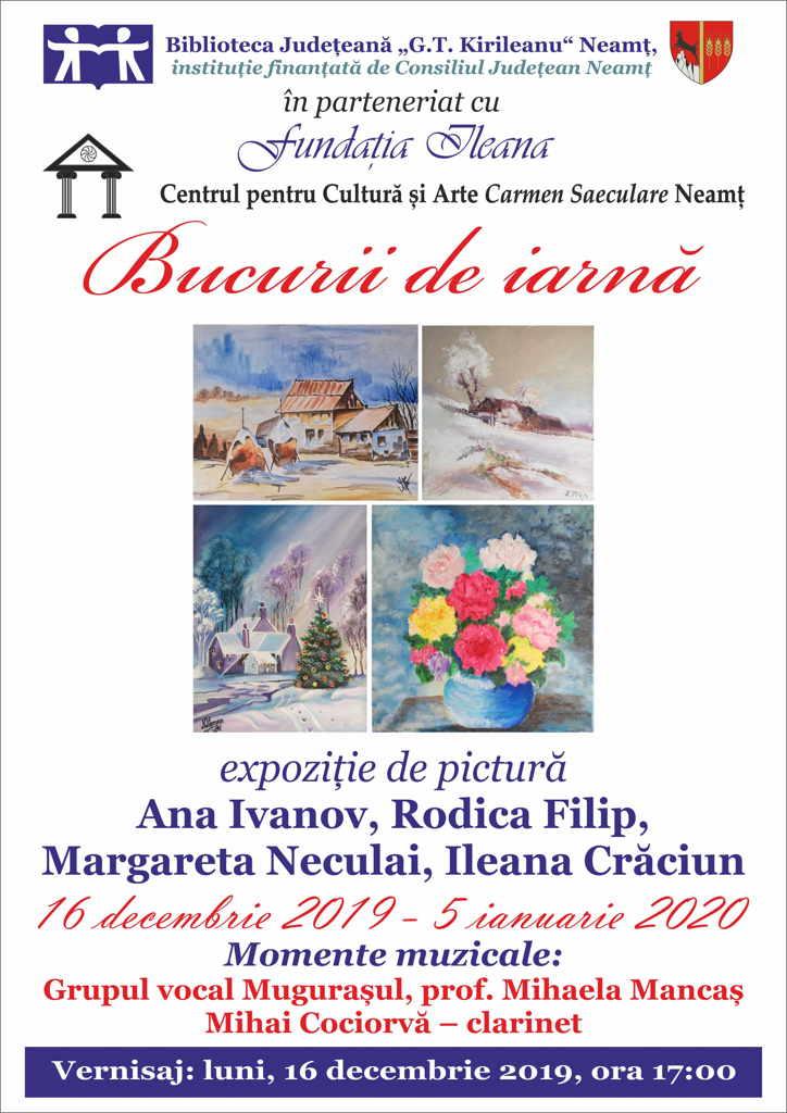 Expozitie pictura Bucurii de Craciun 2019
