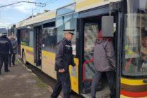 Controale în mijloacele de transport în comun ale Troleibuzul