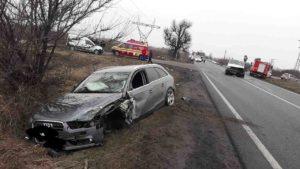 Accident rutier Sabaoani autoturism microbuz