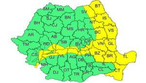 Cod galben intensificari ale vantului 23 ianuarie