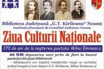 Manifestări la Biblioteca Județeană de Ziua Culturii Naționale
