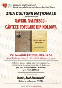 Gavriil Galinescu cantece populare din Moldova