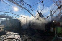 Un magazin din localitatea Rediu a luat foc