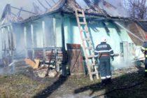 Incendiu la o locuință din localitatea Grumăzești