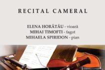 """Concert cameral organizat la Liceul de Artă """"Victor Brauner"""" din Piatra Neamț"""