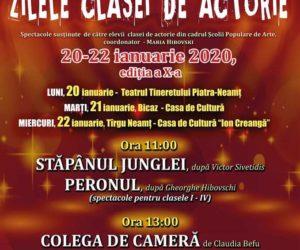 """""""Zilele clasei de actorie"""", a X-a ediție organizată de Școala Populară de Artă"""