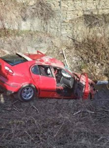 Autoturism cazut in rapa Bicaz