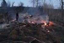 Incendiu de vegetație uscată în localitatea Pipirig