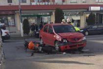 Accident cu o victimă între un autoturism și o motocicletă, în municipiul Roman