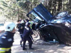 autoturism rasturnat 4 pasageri Agapia
