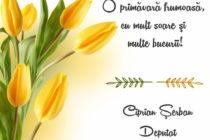 Felicitare 1 martie – Ciprian Șerban
