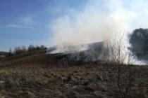 8 incendii de vegetație într-o zingură zi, 16 hectare arse