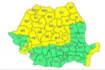 Cod galben de vânt valabil pentru județul Neamț