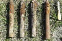 4 proiectile din Al Doilea Război Mondial descoperite într-o pădure din Păstrăveni