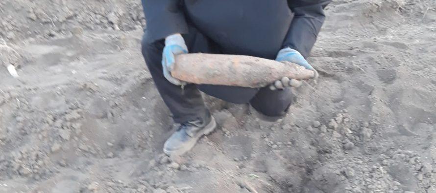4 proiectile neexplodate descoperite în grădina unui cetățean din Sagna