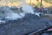Mai multe animale au ars de vii într-un incendiu la o stână din Dămuc