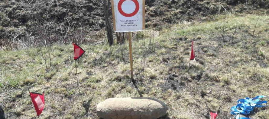 Bombă neexplodată de 50 de kg descoperită pe un teren agricol, în comuna Sagna
