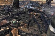 Un garaj și o magazie au fost mistuite de flăcări, în comuna Bahna