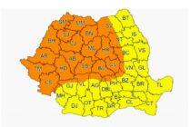 Ploi abundente, grindină și descărcări electrice în județul Neamț
