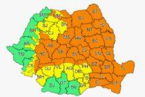 Județul Neamț, din nou sub avertizare de cod PORTOCALIU de ploi