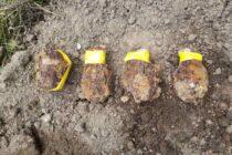 Grenade neexplodate descoperite în curtea unui cetățean din Vânători Neamț