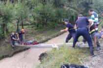 Misiuni ale pompierilor nemțeni din cauza ploilor abundente de ieri