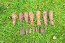 Arsenal de muniție neexplodată descoperită în pădurea Cărbuna din com. Vânători Neamț