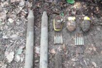 Elemente de muniție neexplodată descoperite în pădurea Nemțisor