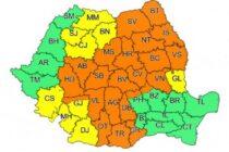 Cod PORTOCALIU de ploi, grindină și vijelii valabil pentru județul Neamț