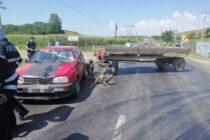 Accident rutier cu 2 victime între un autoturism și o căruță la Roznov