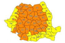 Avertizări meteorologice de vreme rea valabile pentru județul Neamț
