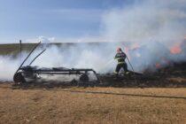 Incendiu puternic la o stână din Dumbrava Roșie