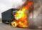 Un TIR a luat foc din cauza unui scurtcircuit