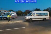 Controale ale polițiștilor pentru verificarea legalității transportului de persoane