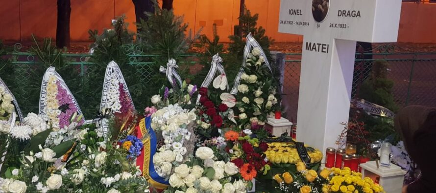 Actrița Draga Olteanu Matei înmormântată cu onoruri militare în cimitirul Eternitatea