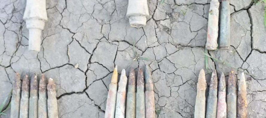 Elemente de muniție neexplodată descoperit în comuna Tazlău