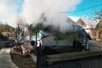 Aflat în timpul liber, un pompier a ajutat la stingerea unui incendiu în comuna Bodești
