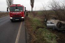 Încă un autoturism s-a răsturnat, la ieșirea din orașul Tg. Neamț