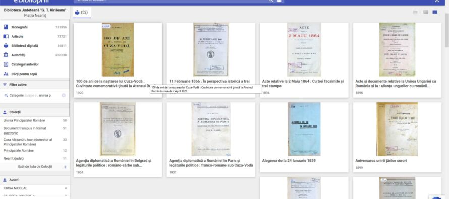Ziua Unirii, sărbătorită în format digital la Biblioteca Județeană
