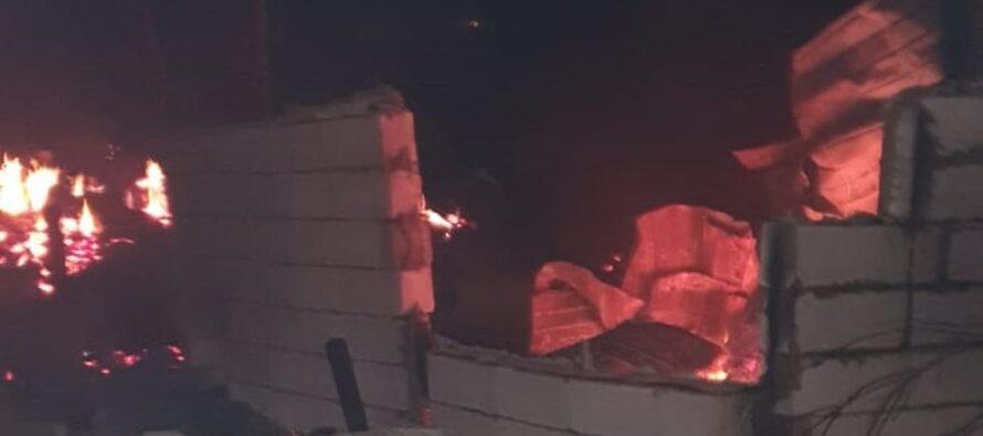 Mai multe animale au ars într-un grajd în urma unui incendiu