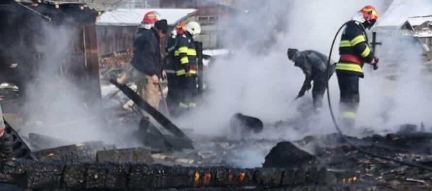 Incendiu la un gater din comuna Hangu