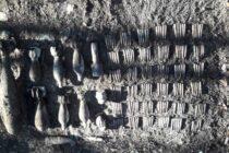 Mai multe elemente de muniţie neexplodată descoperite în pădurea Nemţişor din Vânători-Neamţ