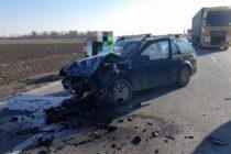 Accident rutier între 2 autoturisme în comuna Horia. 4 persoane au fost rănite.