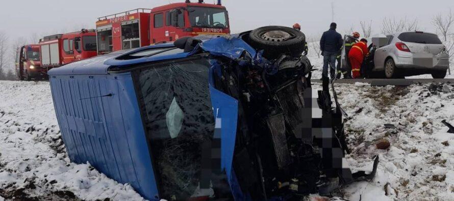 Accident rutier cu 2 victime la Cordun