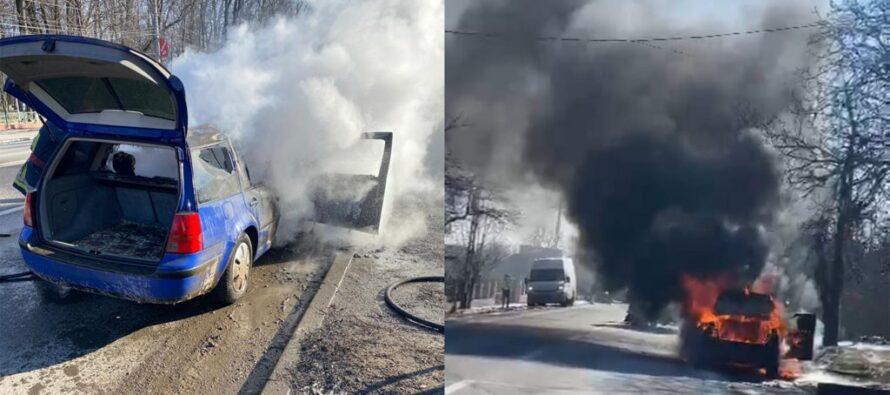 Două autoturisme au luat ars astăzi din cauza defectelor la instalația electrică