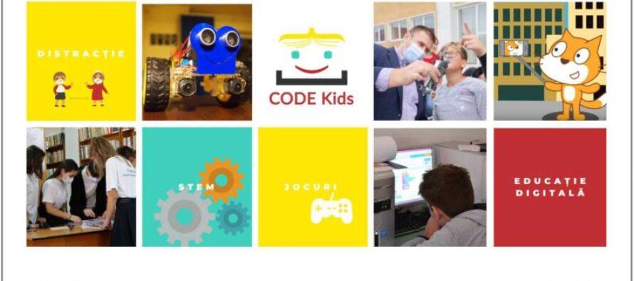 Se fac înscrieri la Code Kids, un proiect de educație digitală pentru copii