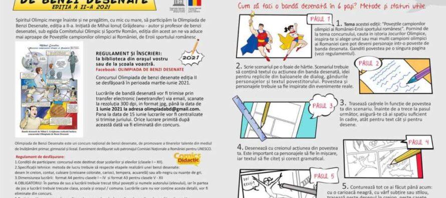 Olimpiada de Benzi Desenate organizată la Biblioteca Județeană G. T. Kirileanu