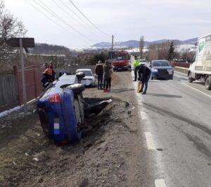 accident rutier autoturism rasurnat Raucesti