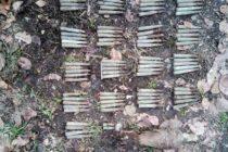 Muniție neexplodată descoperită de pirotehniștii ISU în pădurea Nemțișor